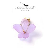 Michael Michaud Violet pin brooch womens wild atmosphere accessories temperament vintage corsage