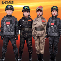 Camouflage new 2020 childrens suit polyester cotton clothing child exercise body military uniform military uniform boys Special Forces childrens clothing