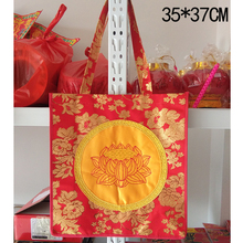 A sack for sacrificing incense and worshipping Buddha. A sack for worshiping lotus flowers. A sacrificial sachet for sacrificing Buddha.
