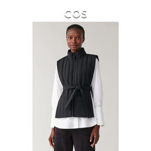 Ms. COS Suit-style High-collar Quilted vest Black Autumn 2019 New 0774326001