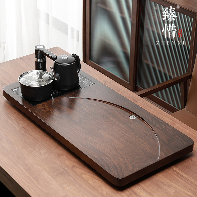 Regret the modern new Chinese-style light luxury fully automatic all-in-one tea plate home kung fu tea set set simple solid wood tea