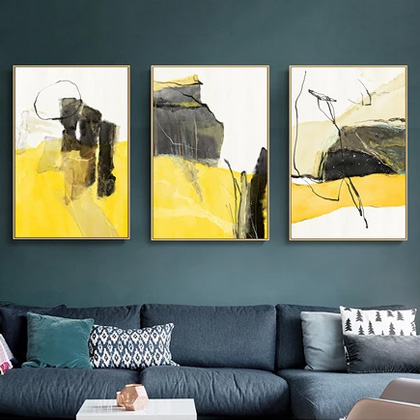 Diy Digital Oil Painting Triple and Triple Living Room Bedroom Abstract Decorative Painting Hand-filled Decompression Oil Painting