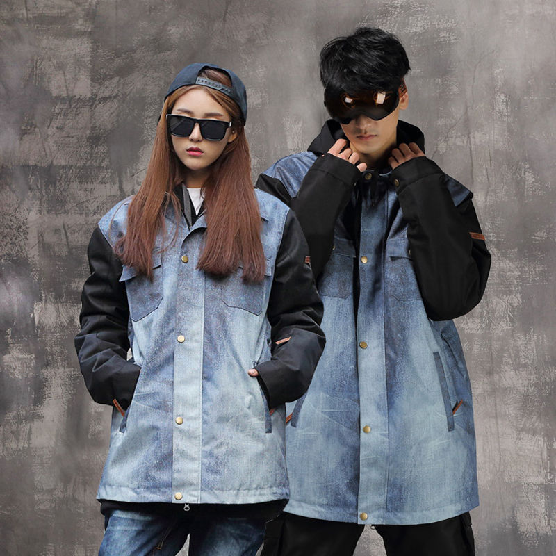 [The goods stop production and no stock]Tide brand mushroom head DOOREK veneer couple models men and women warm padded ski suit (limited edition)