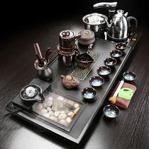 Wujinshi чайный сервиз бытовой водный чайный поднос набор современный простой керамический фиолетовый песок распыление небольшой чайный столик набор
