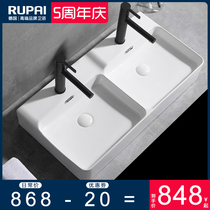 Ceramic washbasin table, upper basin, double basin, washbasin toilet, double basin, one cabinet, basin and wash table, large size