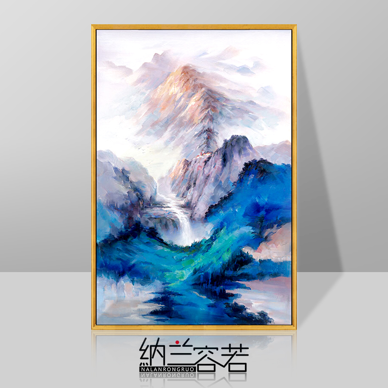 Landscape Scenery Oil Painting Point Walkway Hand-painted Living Room Wall Decorative Painting Restaurant Company Corridor Hanging Painting Jufushan