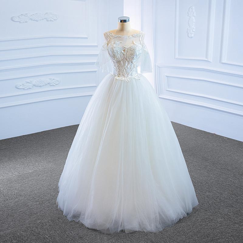 Reith Mei wedding bride solo poncho skirt 2020 new wedding gown super fairy dream dinner dress girl