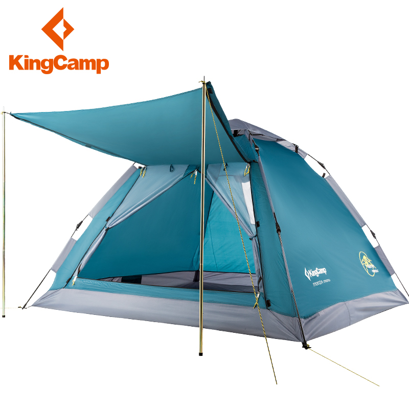 KingCamp tent outdoor 3-4 automatic single-layer travel wild family park leisure tent
