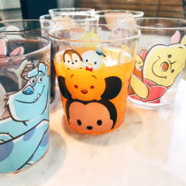 Creative cute cartoon print pattern transparent plastic cup juice drink cup mouthwash brushing cup weird cup