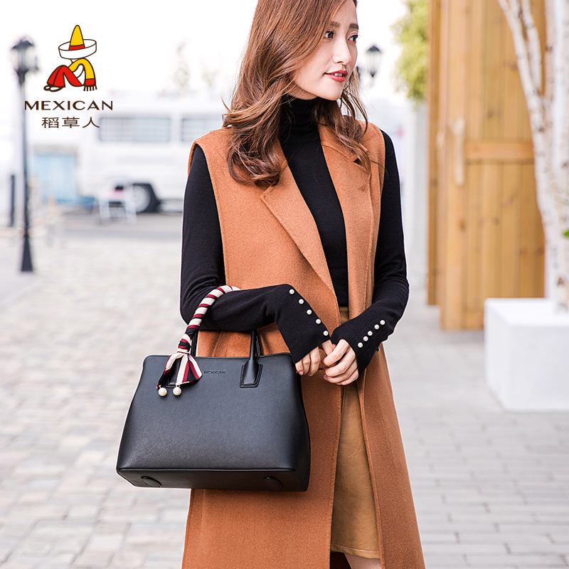 Scarecrow Women's Bag 2019 New Fashion Mom's Bag Middle-aged Handbag Large Bag One Shoulder Slant Bag Lady's Bag