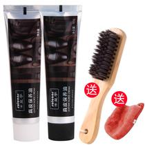 Royal Yu leather shoe oil black leather maintenance oil advanced colorless universal shoe-shine artifact home care shoe brush set