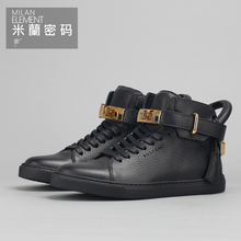 Spot means to produce Buscemi 100 mm Flat WMNS W1007SP14 - black men and women casual shoes series
