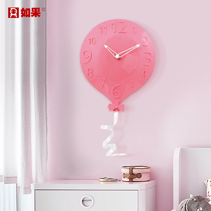 Balloon Clock Wall Hanging European Modern Simple Creative Personality Fashion Living Room Wall Silent Clock