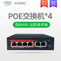 Tyevista 4 standard poe switch 100 mega4 remote power network monitoring dedicated first-line transmission