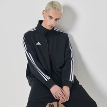 Adidas jacket, men's and women's new summer thin jacket, leisure running sportswear, knitted collar jacket