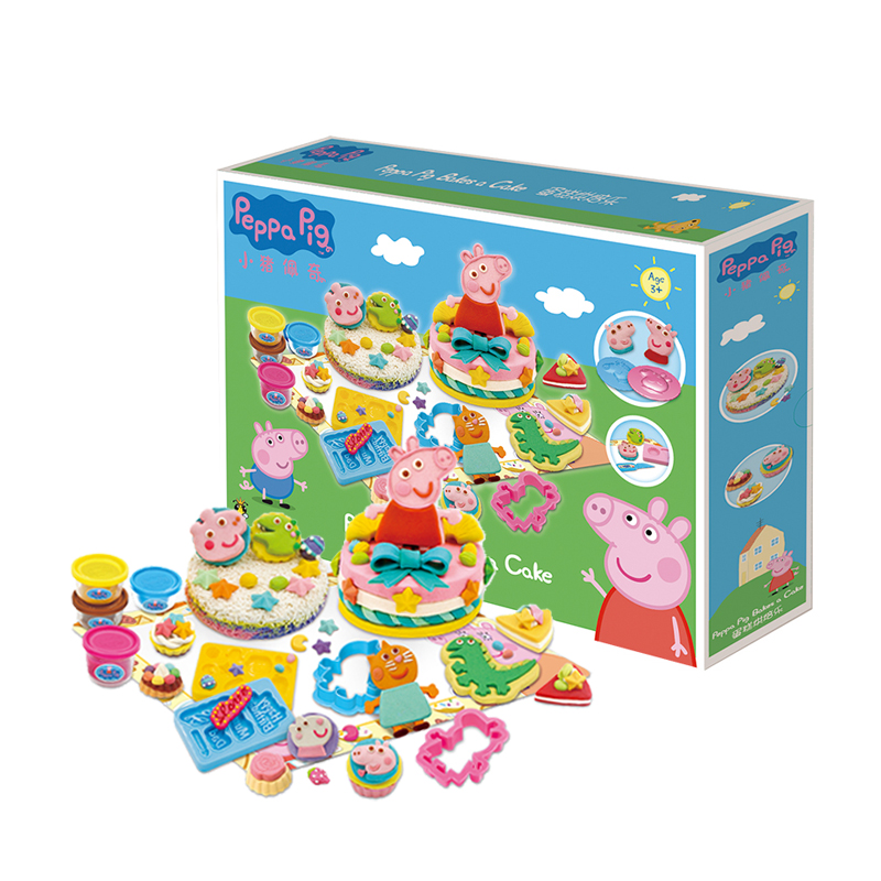 Piggy Paige (Peppa Pig) cake DIY mold set non-toxic mud clay toys birthday gift