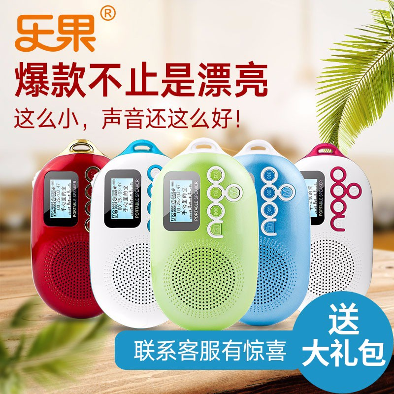 Dimethoate Q12 Radio Mini Stereo Portable Card Speakers MP3 Music Player FM Out put