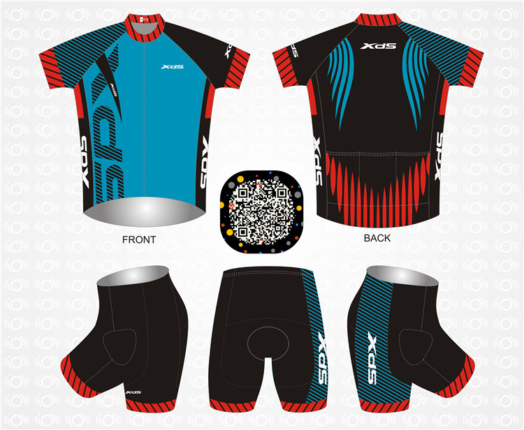 Highly Quality Short Sleeve Suit, Fast-Drying and Air-breathable Riding Clothes, XDS Motorcycle Edition, Hidson Rhythmic Bike Garment 2016
