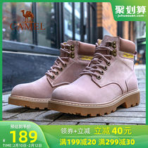 Camel Martin boots womens work boots high-top breathable plus cashmere mens boots non-slip hiking shoes leisure workwear shoes