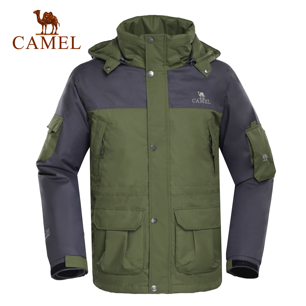 Camel Outdoor Charge Winter Lovers Winter Wind-proof, Waterproof, Down-catching and Warm Mountaineering Clothing Down Clothing