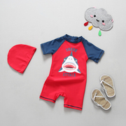 South Korean foreign trade new boy baby baby shark swimsuit anti UV sunscreen dry warm surf wear Gucci tide