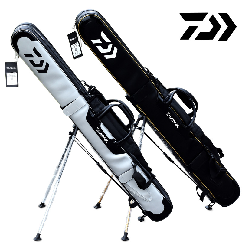 [The goods stop production and no stock]New Dawa pole bag ultra light squid pole bag with bracket fish rod package two-story three-story fishing rod fishing bag