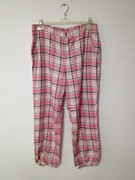 Rayon plaid pants pants pants men Home Furnishing elastic waist single spring big fat