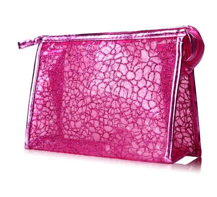 [The goods stop production and no stock]B1 large-capacity cosmetic bag cute transparent clutch handbag bag storage bag