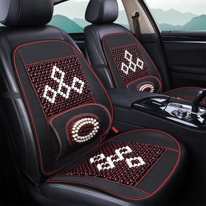 Summer wooden beaded Bodhi car waist back home office seat cushion cushion backrest backrest breathable