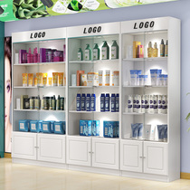 Cosmetics display counter counter beauty products container showcase boutique glass display cabinet shelves with lock with lights