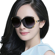 Female star Sunglasses tide 2017 new glasses personality retro elegant Sunglasses face long face polarizer