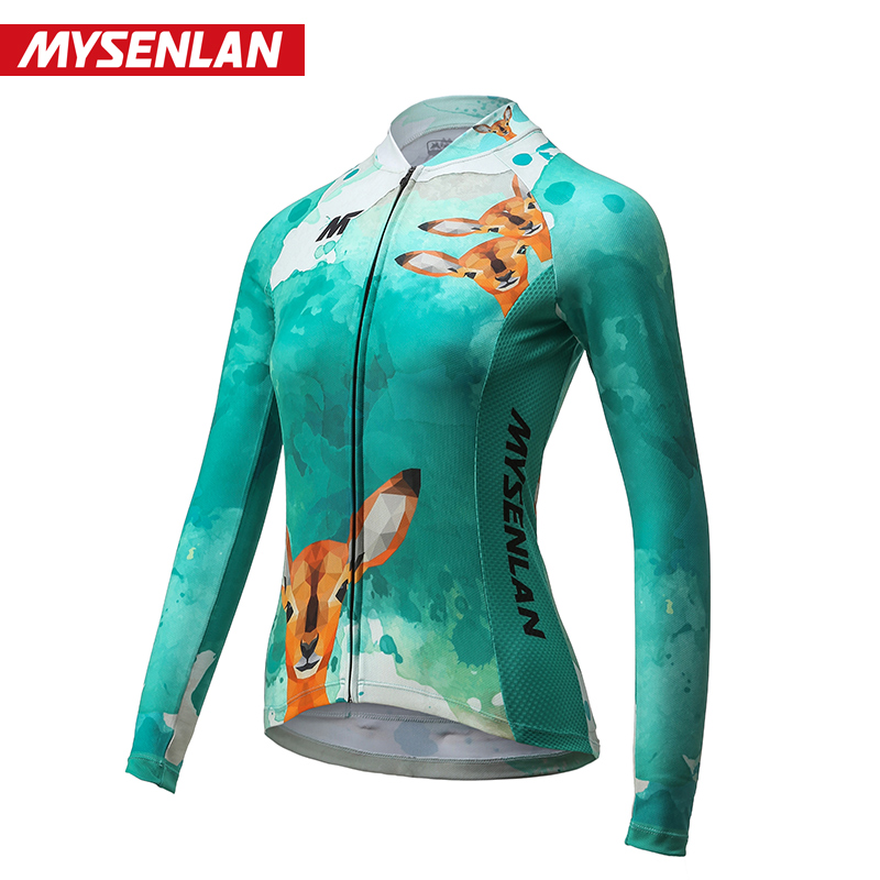 Maisenlan New Cycling Wear Long Sleeve Suit Women's Spring and Summer Cycling Mountain Bike Casual Clothes Oz Fairy Deer