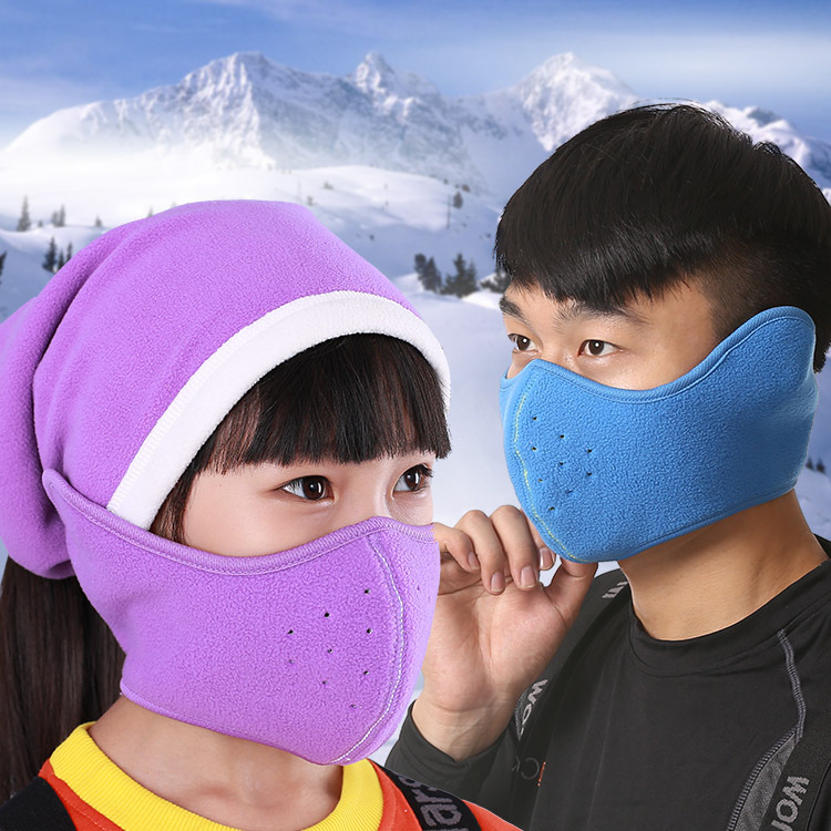 Love snow outdoor ski face mask double thick warm outdoor riding mountaineering dust-proof warm mask