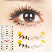 Taiwan handmade false eyelashes, thick eyelashes under natural nude make-up F-14 eyelashes supernatural models