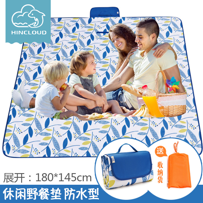Outdoor picnic mattress floor mattress ins portable lawn waterproof pad tent moistureproof mattress picnic cloth beach mattress