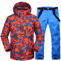 Men's Suit of 2016 New Skiing Suit Thickened Waterproof, Warm and Air-permeable Winter Snowboarding Suit