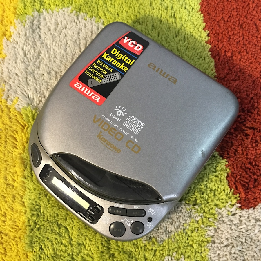 [Secondhand products]Warranty Second-hand Aihua VCD/CD XP-K5 Walkman DSL Adjustable Sound Quality Super Karaoke Function