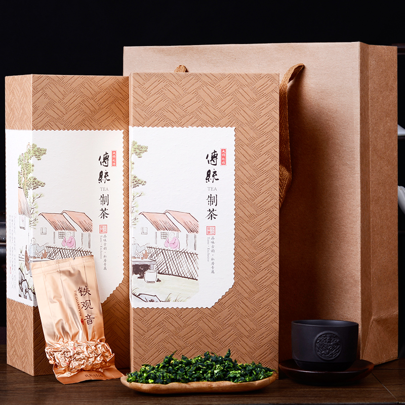 2018 New Tea Tie Guan Yin Tea Anxi Tie Guan Yin Luzhou Oolong Tea Small Bag Gift Box 500g