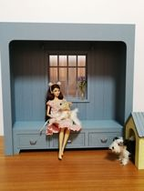mydoll] 1 6 doll house scene custom 6 doll house-American window sill (can be customized size)