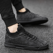 2017 new winter men's shoes all-match trend of Korean men's leisure sports shoes and cashmere warm shoes