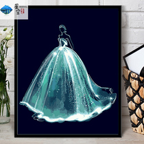 Digital Oil Painting Creative Wedding Clothes Series Diy Digital Oil Painting Hand-made Digital Filling Painting Hand-painted Decorative Hanging Painting