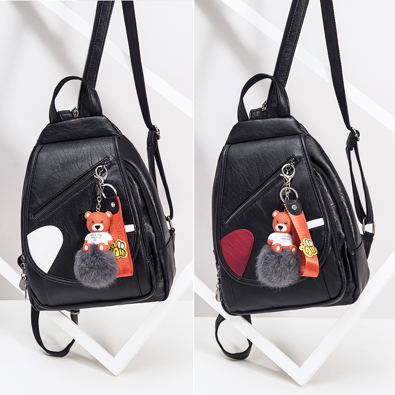 Mini shoulder bag female bag Korean version of pu casual small backpack ladies small bag new 2018 fashion chest bag soft leather