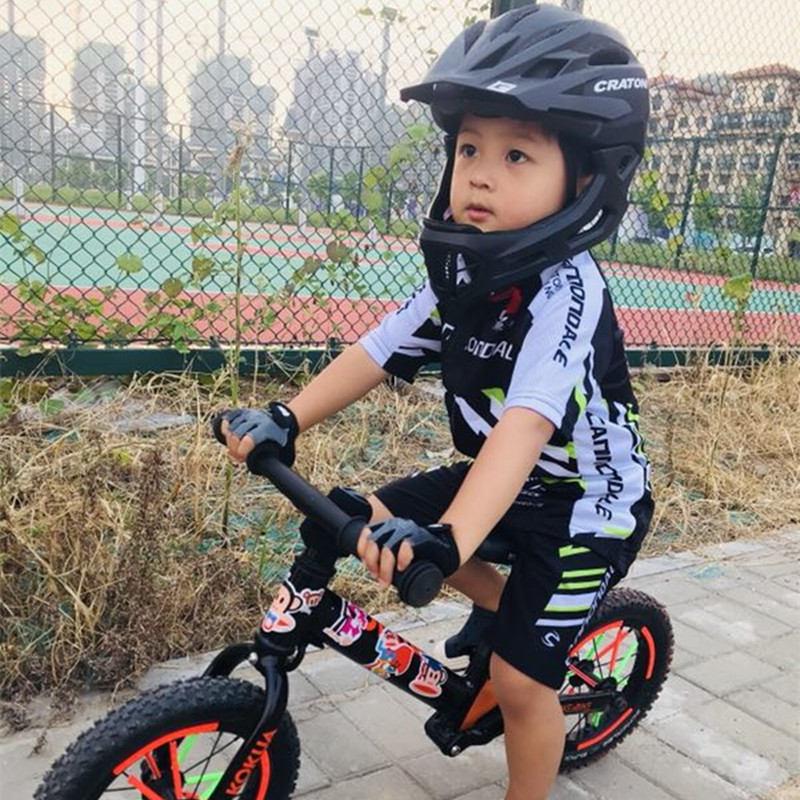 Customized Children's Balanced Cycling Clothing with Long Sleeve and Short Sleeve Sports Suit