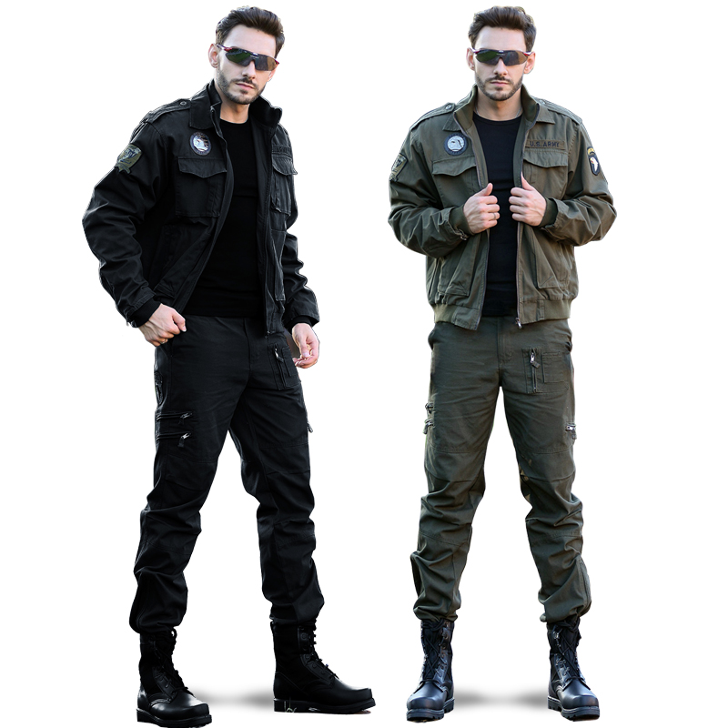 Outdoor camouflage suit jacket for men's field special forces training suit No. 101 Airborne Division