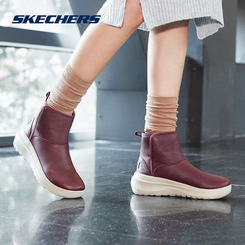 Skechers SKECHERS Women's Shoes New One-Piece Lazy Fashion Boots Thick-soled Boots 15543