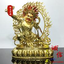 The bronze statue of Vajra Bodhisattva in Tibet is full of copper and gold fine buddha statue five inches high Tibetan buddha height 17cm