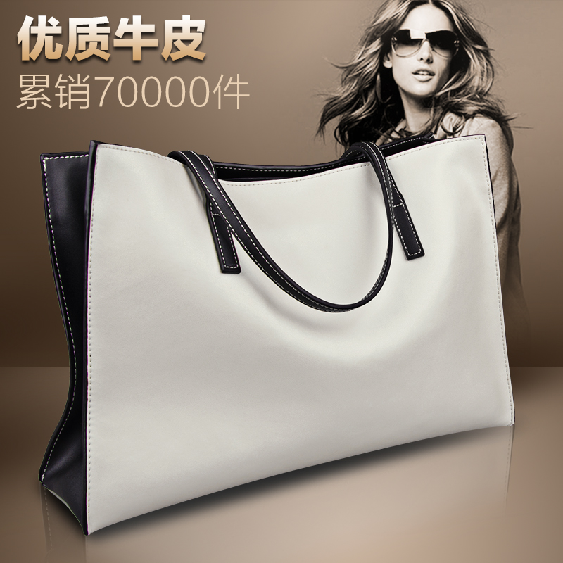 Women's Bag 2019 New Handbag Total Bag Leather Advanced Sense Large Capacity Women's Bag Large Bag Single Shoulder Bag