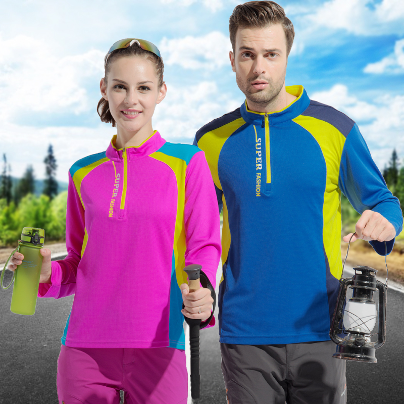 Outdoor quick-drying t-shirt short-sleeved women's quick-drying clothes large size sports running long-sleeved Slim hiking breathable summer shirt