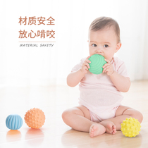 Handball Baby Massage Soft Rubber Touch Sensor Material Grasp Training Soft Ball Parent-child Toys for Intelligent Children