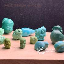 Fuyuntang Shiyan mine high porcelain rapeseed yellow mini hand carving pieces